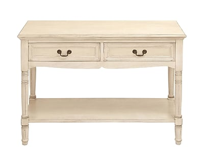 Woodland Imports Console Table; Off White