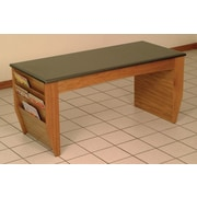 Wooden Mallet Dakota Coffee Table w/ Magazine Pockets; Medium Oak