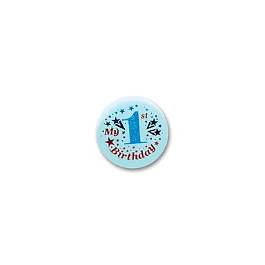 Blue My 1st Birthday Satin Button, 2