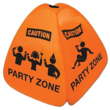 Party Zone Collapsible Floor Sign, 15