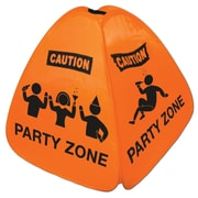 "Party Zone Collapsible Floor Sign, 15"", 2/Pack"