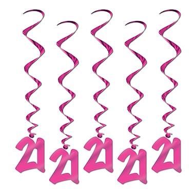 Tourbillons « 21 » roses, 3 pi, paq./15