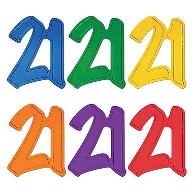 Silhouettes « 21 » en papier aluminium, 12 po, paq./7
