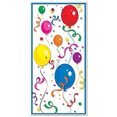 Affiche de porte-ballons et confettis, 30 po x 5 pi, paq./3