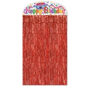 "Beistle 4' 6"" x 3' Birthday Cake Character Curtain, 2/Pack"