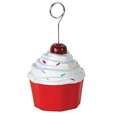 Cupcake Photo/Balloon Holder, 6 Ounces, 3/Pack