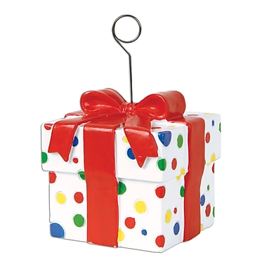 Polka Dots Gift Box Photo/Balloon Holder, 6 Ounces, 3/Pack