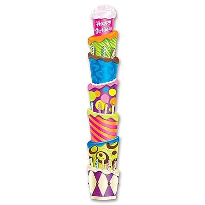 Beistle 6' Jointed Birthday Cake Pull Down Cutouts, 3/Pack