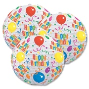 Lanternes en papier « Happy Birthday », 9 1/2 po, paq./6