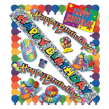 Happy Birthday Party Kit, Assorted Decorations