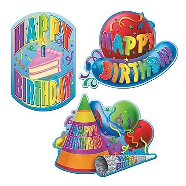 Happy Birthday Cutouts, 18