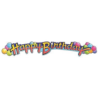Banderole « Happy Birthday » avec imprimé de ballons, 35 po, 8/paquet