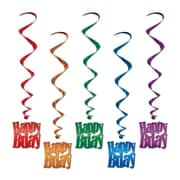 "Beistle 33"" Happy Birthday Whirls, 15/Pack"