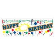 "Personalized Happy Birthday Sign Banner, 5' x 21"", 3/Pack"