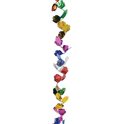 Beistle 25' Gleam 'N Flex Gift Box Garland, Multicolor, 4/Pack