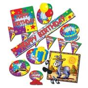Ensemble de fête d'anniversaire avec jeu de l'âne, décorations variées