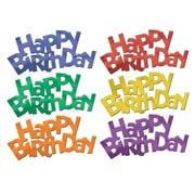 "Jumbo Happy Birthday Fanci-Fetti, 2-1/4"" x 5"", 30/Pack"