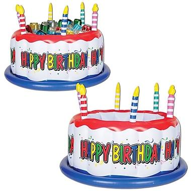 Glacière gâteau d'anniversaire gonflable, 24 larg. x 16 haut. (po), 1/paquet