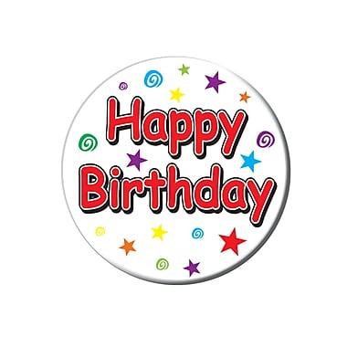 Happy Birthday Button, 3-1/2