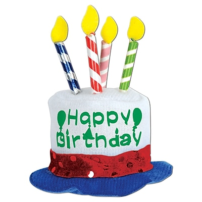 Beistle Happy Birthday Cake Hair Clip, 3/Pack