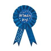 "Biestle 3 3/4"" x 6 1/2"" Birthday Boy! Award Ribbon, 3/Pack"