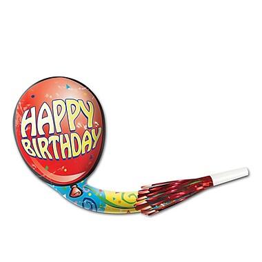 Mirliton-ballon musical « Happy Birthday », 13 po, 28/paquet