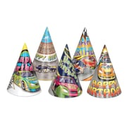 "Race Car Birthday Hats, 6-1/2"", 25/Pack"