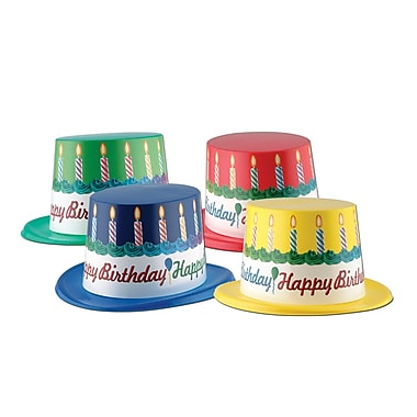 Plastic Toppers With Happy Birthday Band, 25/Pack
