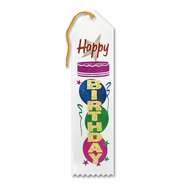 Ruban « Happy Birthday » 2 x 8 po, 9/paquet