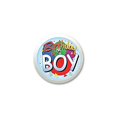 Macaron clignotant « Birthday Boy », 2 po, 4/paquet