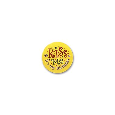 Kiss Me, It's My Birthday Satin Button, 2