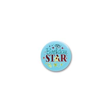Macaron satiné « Birthday Star », 2 po, 7/paquet
