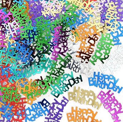 Beistle Happy Birthday Confetti, Multicolor, 5/Pack