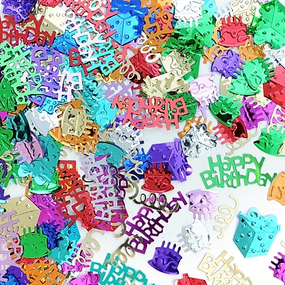 Beistle Birthday Bash Confetti, Multicolor, 5/Pack