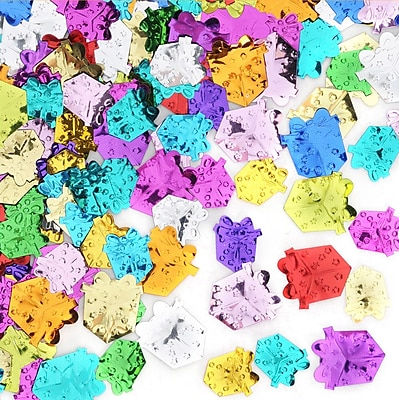 Beistle Gift Boxes Confetti, Multicolor, 5/Pack