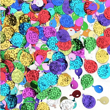 Beistle Balloon Party Confetti, Multicolor, 5/Pack