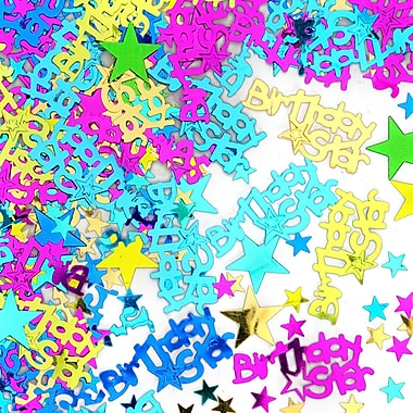 Beistle Birthday Star Confetti, Multicolor, 5/Pack
