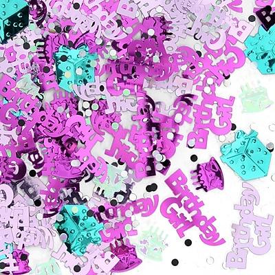 Beistle Birthday Girl Confetti, Pink, 5/Pack