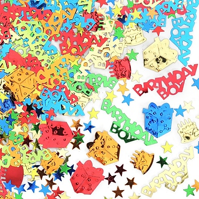 Beistle Birthday Boy Confetti, Multicolor, 5/Pack
