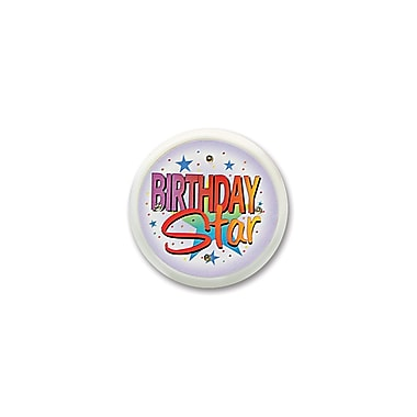 Birthday Star Flashing Button, 2-1/2