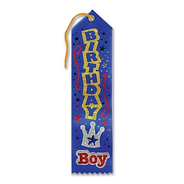 Blue Birthday Boy Jeweled Ribbon With Crown , 2