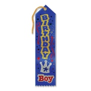 "Blue Birthday Boy Jeweled Ribbon With Crown , 2"" x 8"", 8/Pack"