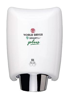 World Dryer® SMARTdri™ PLUS 208 - 240 V High-Efficiency Intelligent Automatic Hand Dryer, White