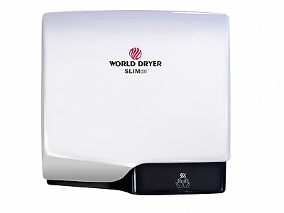 World Dryer® SLIMdri™ 110 - 240 V Surface-Mounted Automatic Hand Dryer, White