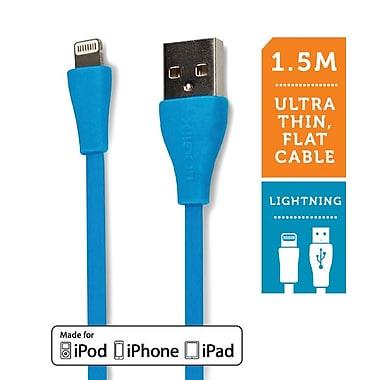 Logiix Flat Flex Jolt Lightning Cable, 1.5M, Turquoise