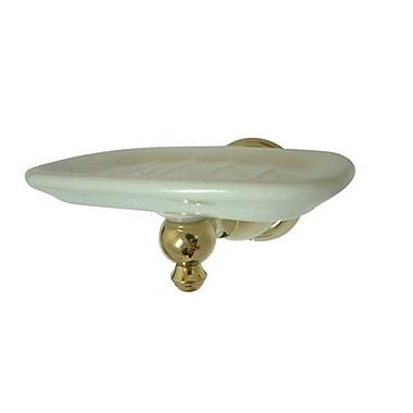 Elements of Design English Vintage Soap Dish; Polished Brass