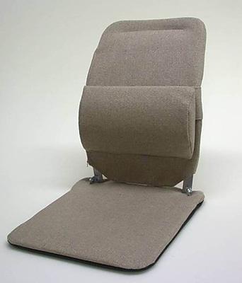 Sacro-Ease Seat Back Cushion w/ Adjustable Lumbar Support; Light Brown
