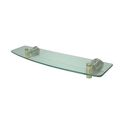 Elements of Design Milano Wall Shelf; Satin Nickel / Polished Brass