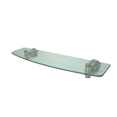 Elements of Design Milano 20'' W Bathroom Shelf; Satin Nickel