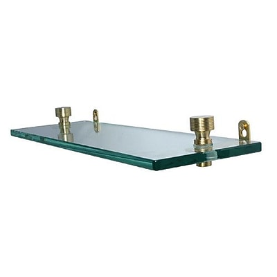 Allied Brass Universal Wall Shelf; Polished Nickel